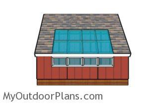 Greenhouse Shed Plans - Side view