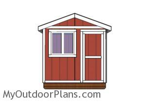 Ice fishing house Plans - Front view
