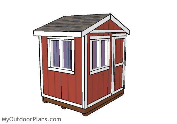 6x8 ice fishing house plans myoutdoorplans free for Ice fishing shanty plans