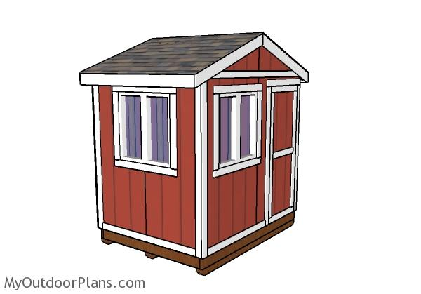 6x8 Ice Fishing House Plans