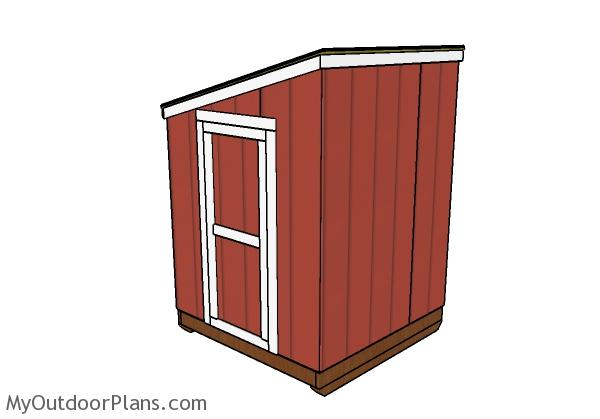 Ice shanty plans - Back view