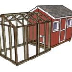 8×10 Chicken Coop Run Plans