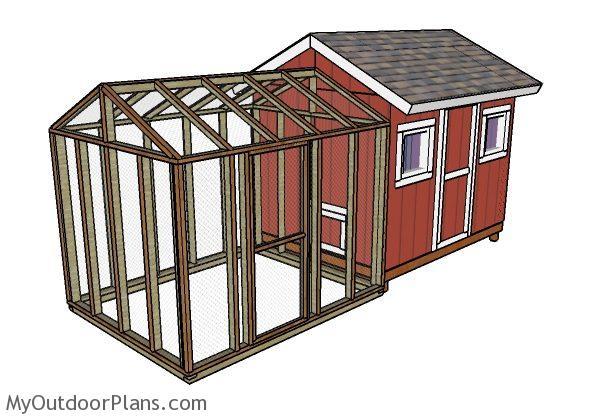 8x10 chicken coop run plans myoutdoorplans free for Chicken coop for 8 10 chickens