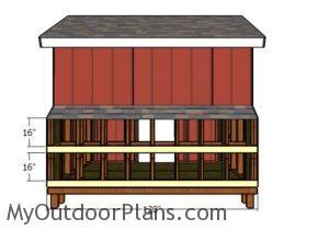 Nest box door supports