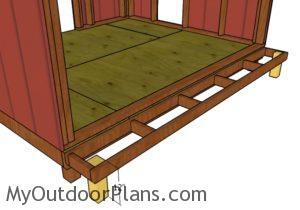 Nest box floor frame