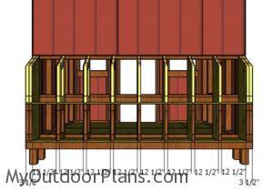 Nest box top partitions