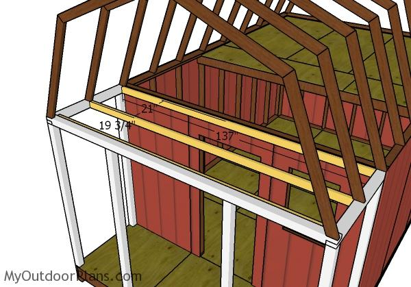 Porch ceiling joists