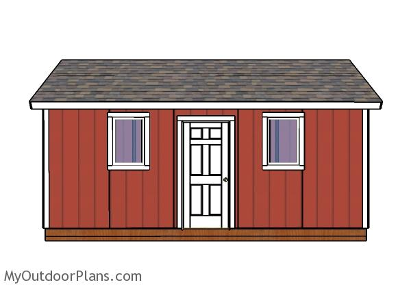 Outdoor Storage Shed Double Doors Plans