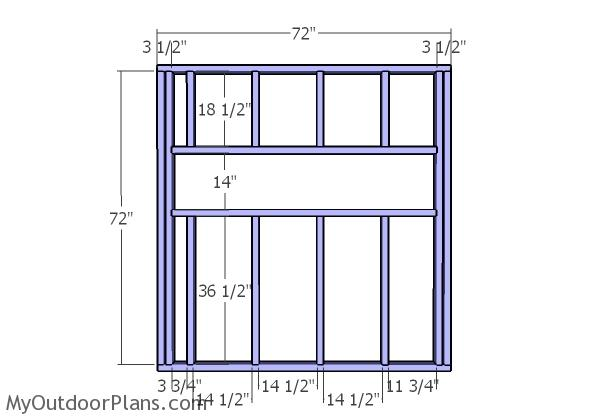 Side wall frames