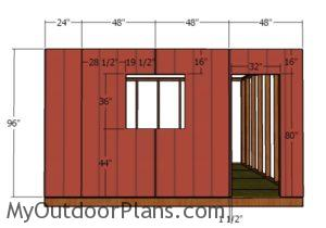 Side wall with window - Siding