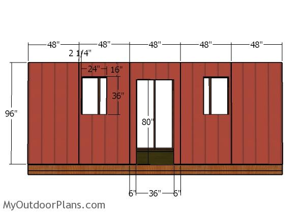 Side wall with windows - siding