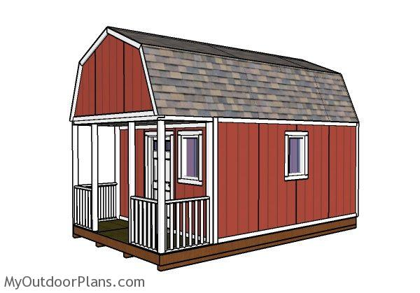 12x20 small cabin plans diy hunting shack for Small shack plans