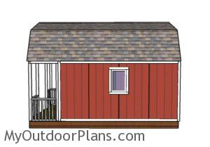 Small Cabin Plans - Side view