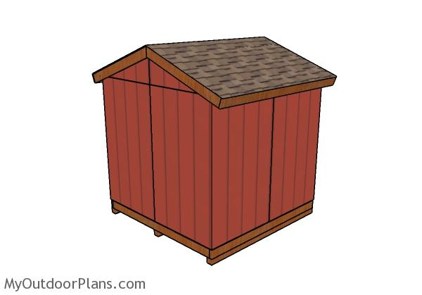 Small Garden Shed Plans - Back View