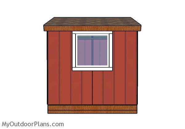 Small Garden Shed Plans - Side view