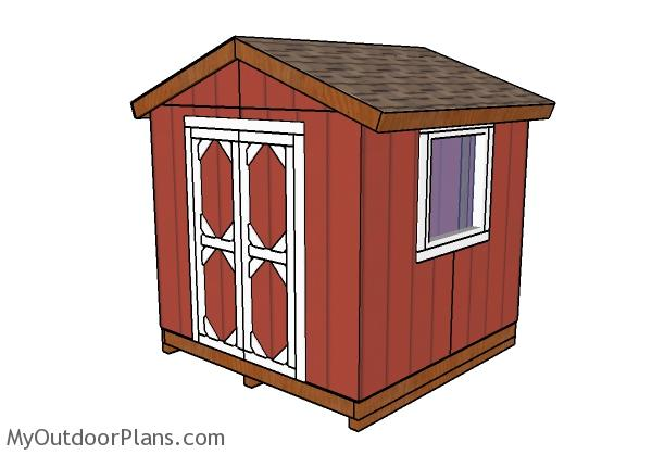 8x8 Small Garden Shed Plans