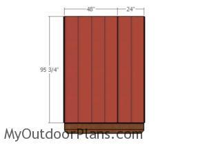 Tall side wall - Siding