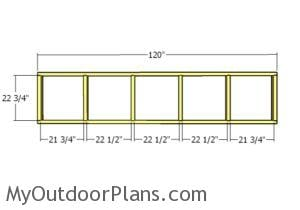 Top back wall frame - Plans