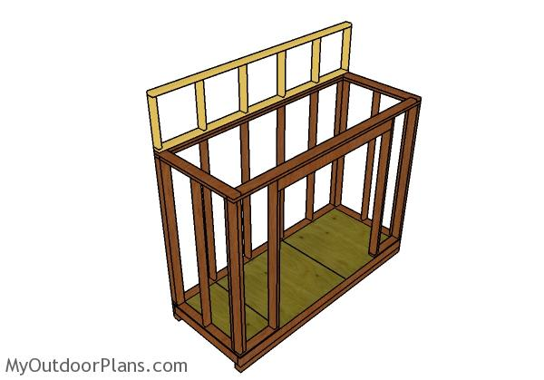 Top back wall frame