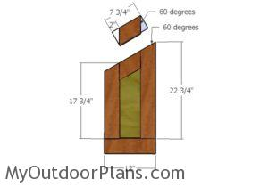 Top nest box partitions plans