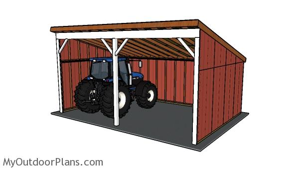 Tractor Shed Plans | MyOutdoorPlans | Free Woodworking ...