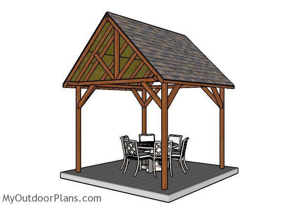 10x10 Pavilion Plans | MyOutdoorPlans | Free Woodworking ...