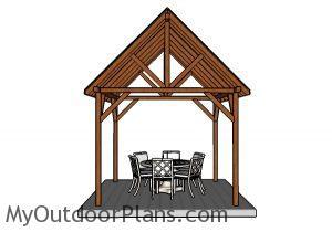 10x10 Pavilion Plans - Front View