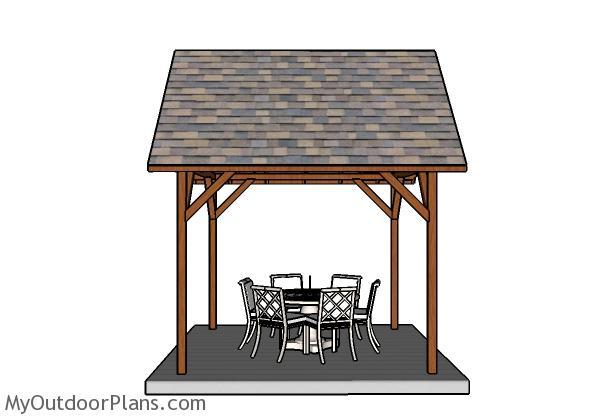 10x10 Pavilion Plans - Side View