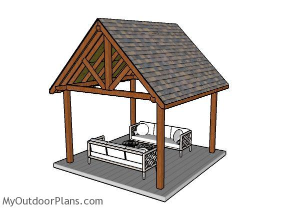 12x12 Pavilion Plans Myoutdoorplans Free Woodworking