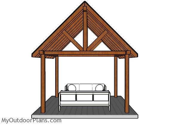 12x12 Pavilion Plans - Front view