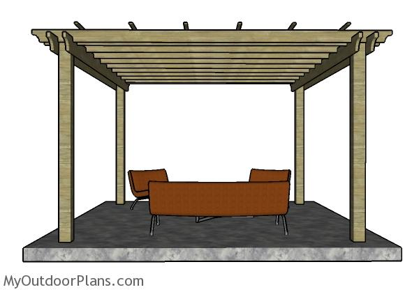 12x12 Pergola Plans Free - 12x12 Pergola Plans MyOutdoorPlans Free Woodworking Plans And