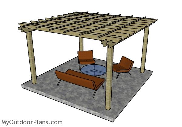 12x12 Pergola Plans - 12x12 Pergola Plans MyOutdoorPlans Free Woodworking Plans And