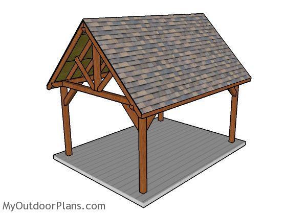 Do It Yourself Home Design: 12x16 Pavilion Plans