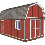 12×20 Gambrel Shed Plans