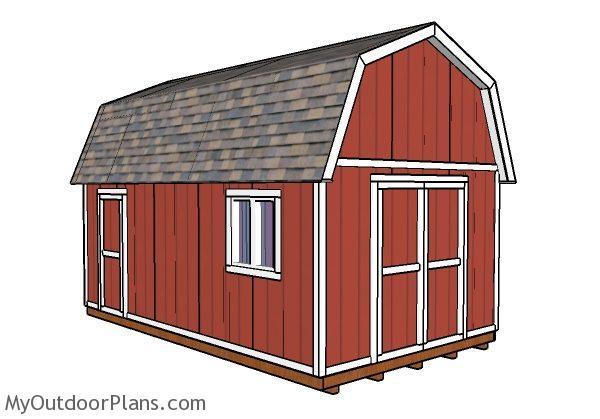 12x20 Gambrel Shed Plans | MyOutdoorPlans | Free ...