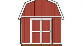 12×20 Gambrel Shed Doors Plans