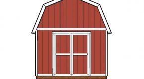 12×20 Gambrel Shed Doors Plans