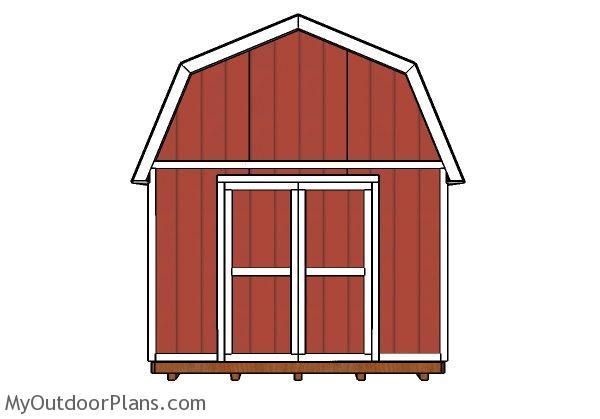 12x20 Gambrel Shed Doors Plans Myoutdoorplans Free