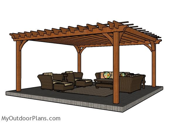 16 x 16 pergola outdoor goods for 16x16 deck material list
