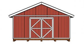 20×20 Shed Doors and Trims Plans