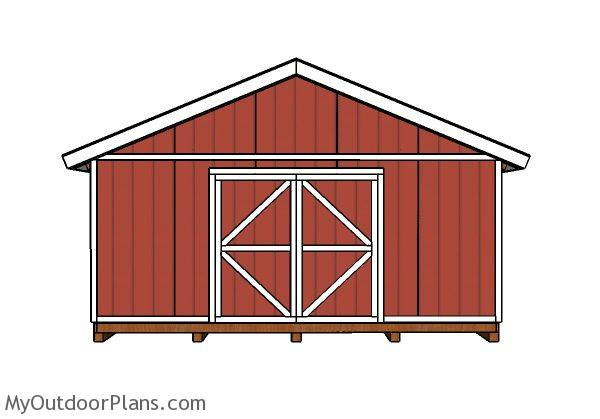 20x20 Shed Doors And Trims Plans Myoutdoorplans Free