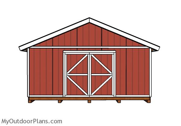 20x20 Shed Doors and Trims Plans