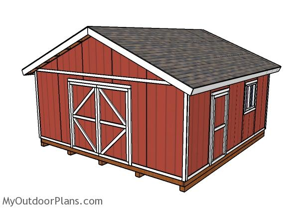 20x20 shed plans myoutdoorplans free woodworking plans for 20 x 40 shed plans