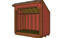 4×8 Wood Shed Plans