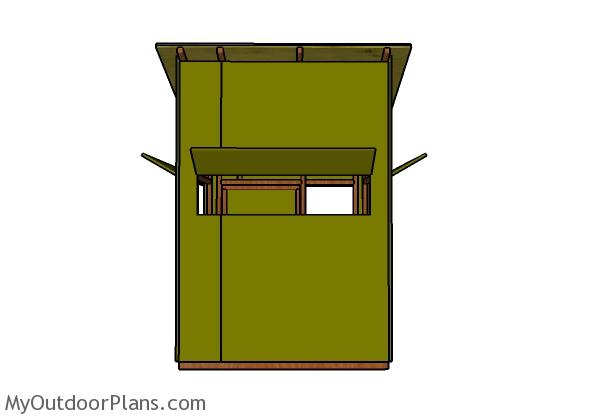 5x5 Deer Blind Plans - Front view