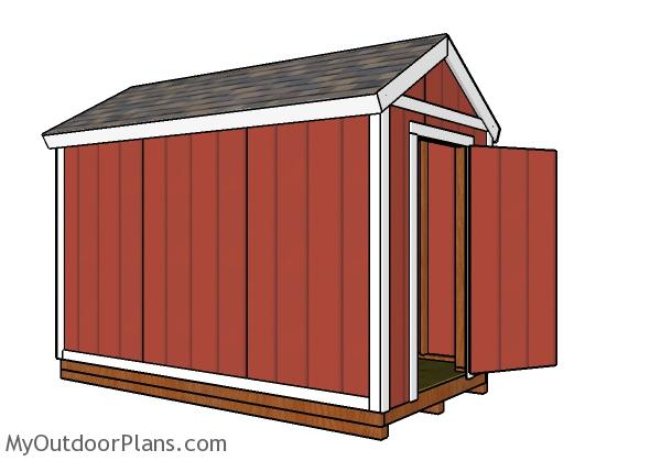 6x12 Gable Shed Plans