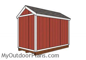 6x12 Shed - Back view