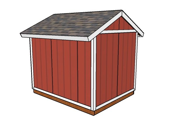 8x10 Shed Plans - Back view