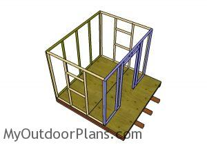 Assembling the frame of the playhouse