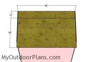 Back roof - sheets